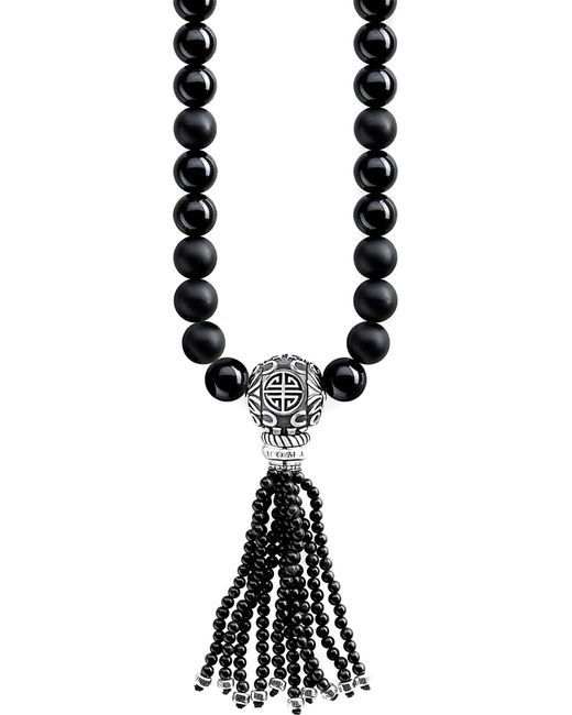 Thomas Sabo - Metallic Rebel At Heart Mala Power Sterling Silver And Obsidian Bead Necklace - Lyst