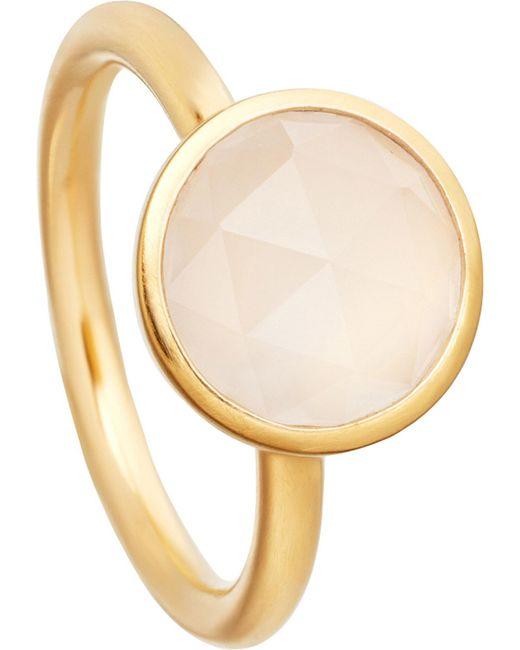 Astley Clarke   Metallic Stilla 18ct Yellow-gold Plated Moonstone Ring   Lyst
