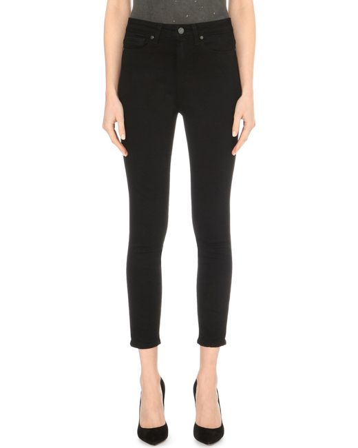 PAIGE - Black Margot Ultra-skinny High-rise Cropped Jeans - Lyst