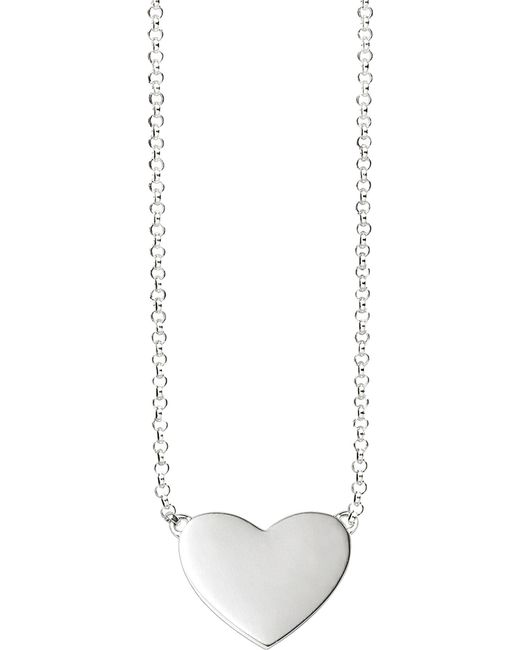 Thomas Sabo - Metallic Sterling Silver Heart Tag Necklace - Lyst