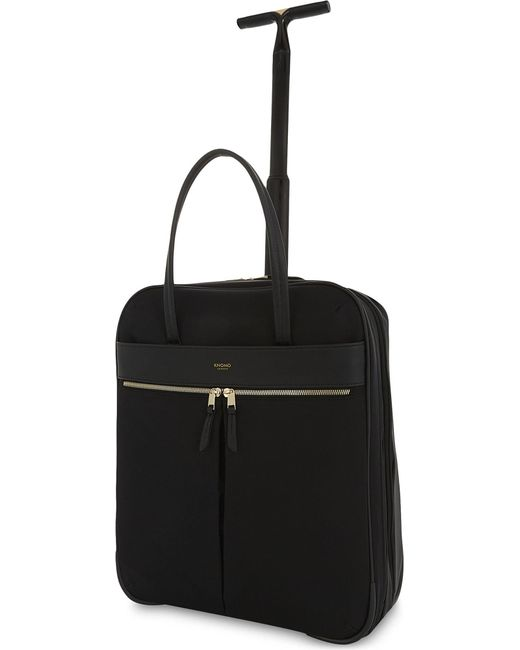 Knomo | Black Mayfair Burlington Nylon Two-wheel Briefcase 38cm for Men | Lyst