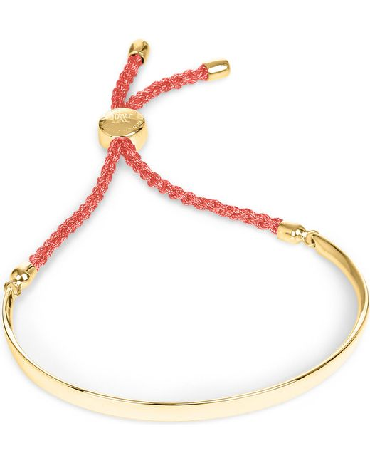 Monica Vinader - Red Fiji 18ct Gold-plated Friendship Bracelet - Lyst