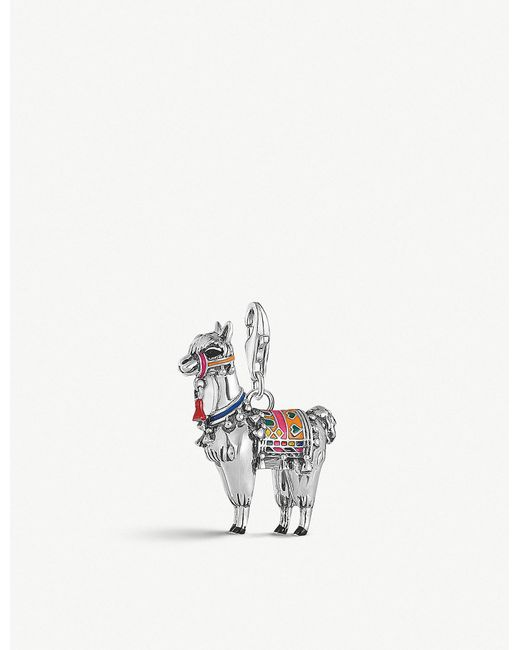 Thomas Sabo - Metallic Charm Club Sterling Silver And Enamel Llama Pendant - Lyst