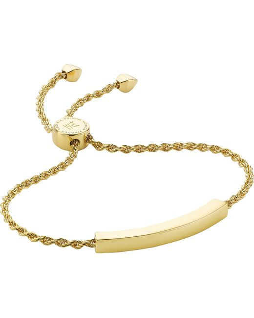 Monica Vinader - Metallic Linear 18ct Gold-plated Chain Bracelet - Lyst