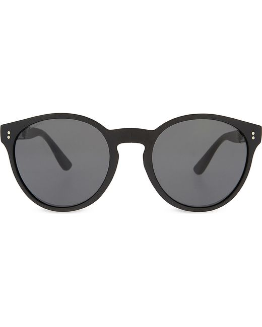 Burberry Black Frame Glasses : Burberry Be4221 Round-frame Sunglasses in Black Lyst