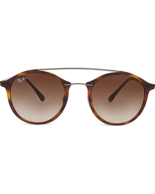 Ray Ban Round Frame Sunglasses : Ray-ban Rb4226 Tech Round-frame Sunglasses in Brown Lyst