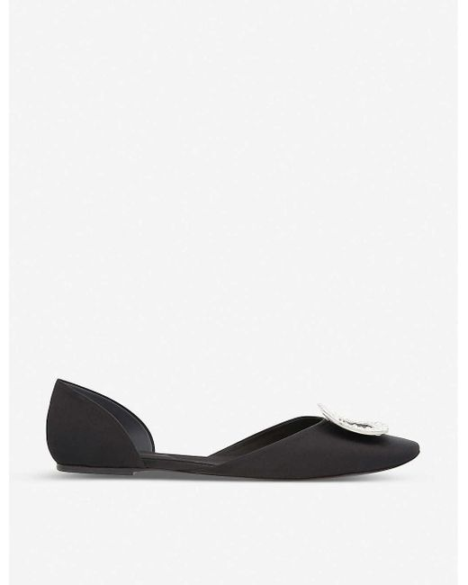 Roger Vivier Ballerine Chips Metallic Leather D'orsay Flats