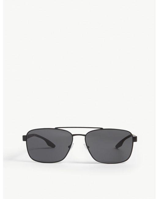 Prada Linea Rossa Black Ps 51us Sunglasses for men