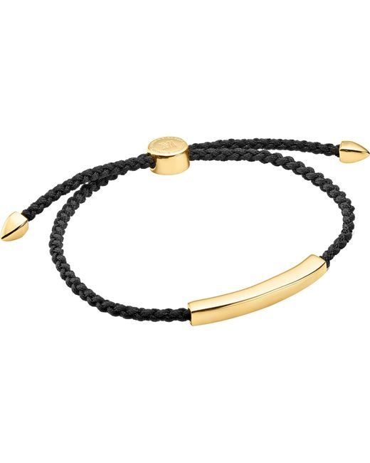 Monica Vinader - Metallic Linear 18ct Gold-plated Friendship Bracelet for Men - Lyst