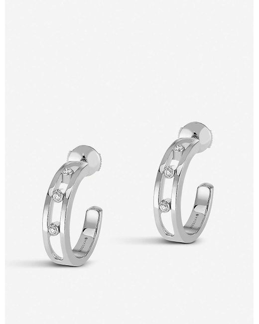 Messika Move 18ct White-gold And Diamond Hoop Earrings
