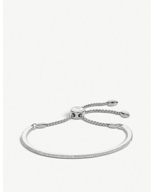 Monica Vinader - Metallic Fiji Skinny Bar Sterling Silver Friendship Chain Bracelet - Lyst