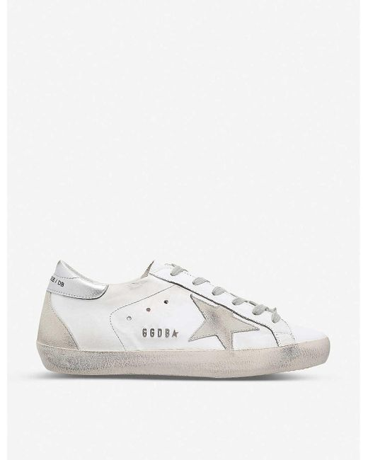 Golden Goose Deluxe Brand Black Women's White Superstar W77 Leather Trainers