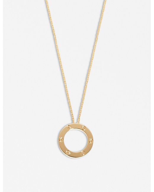 Cartier - Metallic Love 18ct Yellow-gold Necklace - Lyst