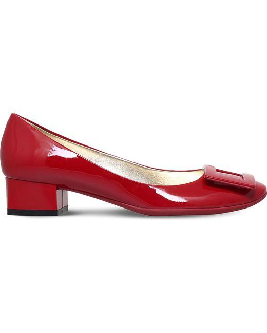 Roger Vivier - Red Belle De Nuit T35 Patent-leather Courts - Lyst