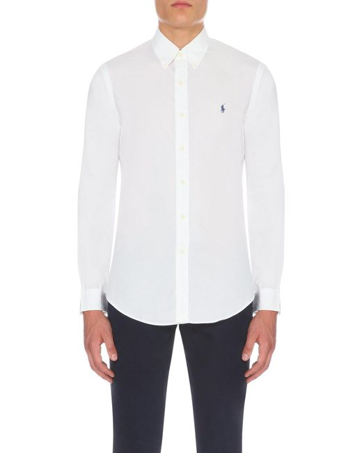 Polo Ralph Lauren | White Slim-fit Single-cuff Shirt for Men | Lyst