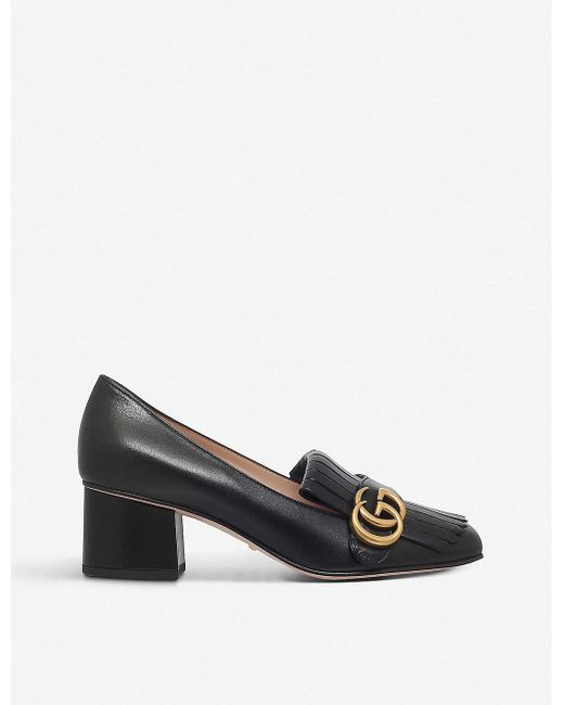 Gucci Purple Marmont Leather Pumps