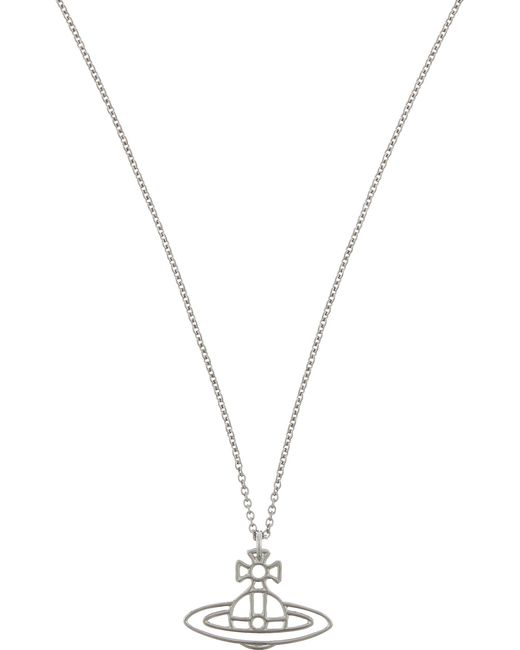 Vivienne Westwood - Metallic Thin Lines Flat Orb Necklace - Lyst