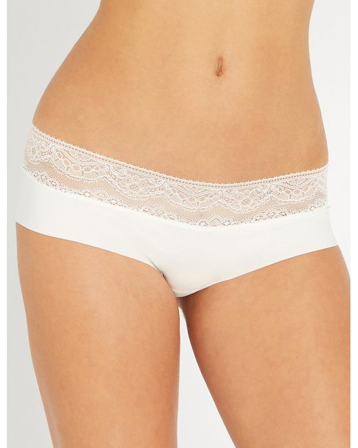 Six - White Rosa Stretch-jersey Maternity Briefs - Lyst