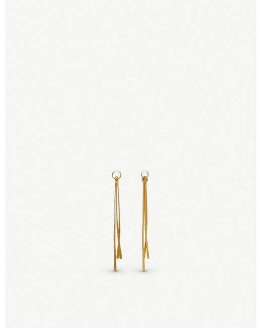Annoushka - Metallic Pine 18ct Yellow Gold Pendants - Lyst