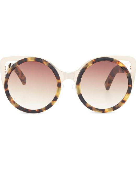 Erdem | Brown Extended Cat-eye Sunglasses | Lyst