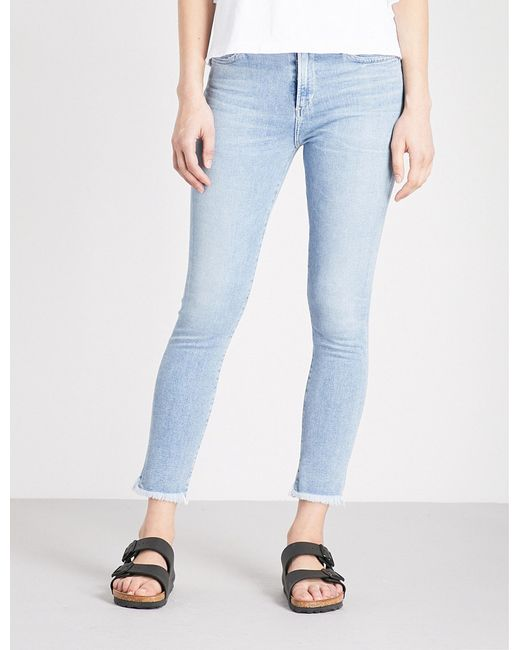 Citizens of Humanity - Blue Rocket Slim-fit High-rise Jeans - Lyst