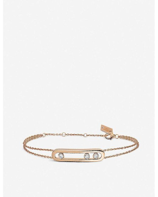 Messika Pink Move 18ct Rose-gold And Diamond Bracelet