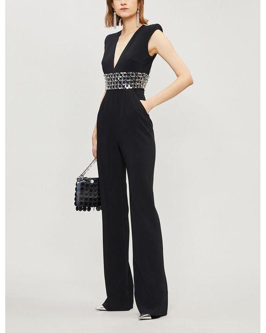 1f81facc726 Lyst - David Koma Sequin-embellished Crepe Jumpsuit in Black - Save ...