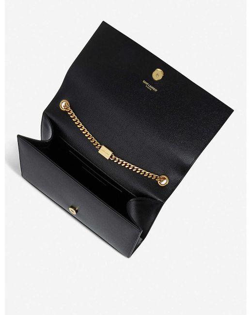 Saint Laurent Black Kate Medium Leather Shoulder Bag