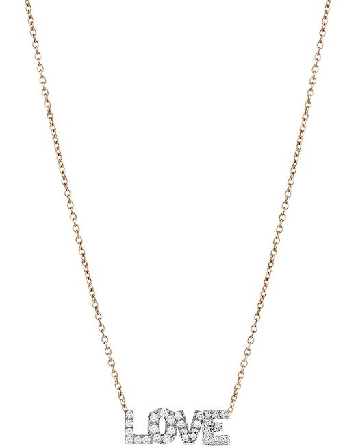 The Alkemistry - Metallic Love 14ct Rose Gold And Diamond Necklace - Lyst