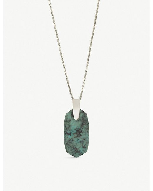 Kendra Scott - Metallic Inez Rhodium-plated And African Turquoise Necklace - Lyst
