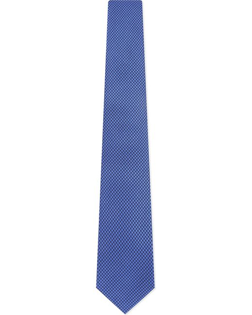 Turnbull & Asser - Blue Puppytooth Silk Tie for Men - Lyst