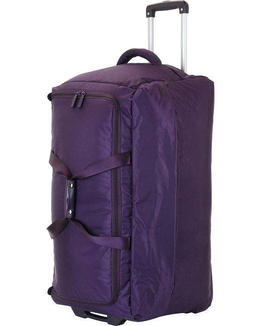 Lipault - Black Foldable Wheeled Duffel Bag 55cm - Lyst