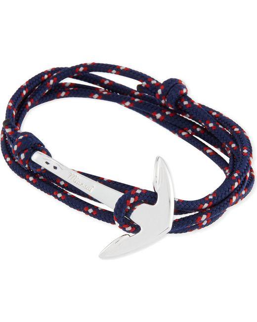Miansai - Black Anchor Rope Bracelet for Men - Lyst