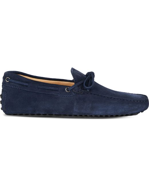 Tod's | Blue Gommino Heaven Driving Shoes In Suede for Men | Lyst