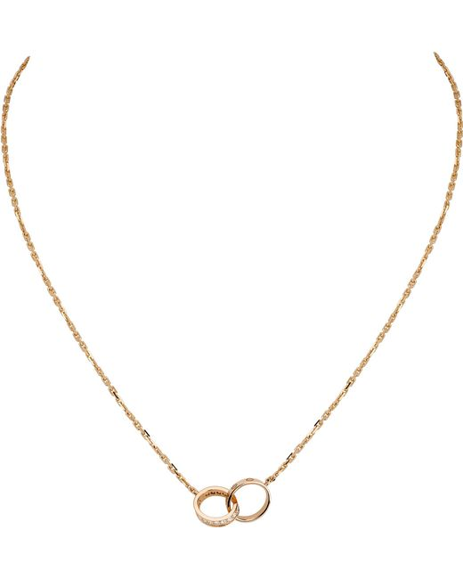 Cartier - Metallic Love 18ct Rose-gold And Diamond Necklace - Lyst