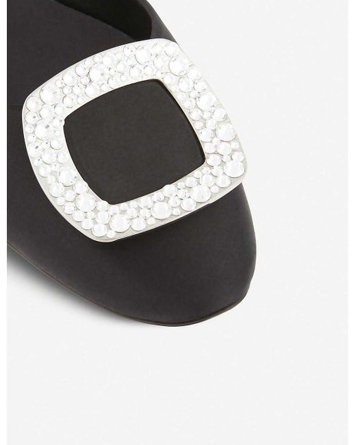 Roger Vivier Ballerine Chips Metallic Leather D'orsay Flats