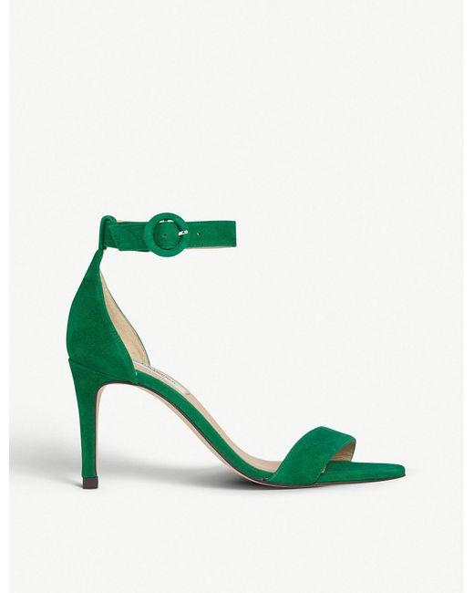 L.K.Bennett - Dora Green Suede Sandals - Lyst