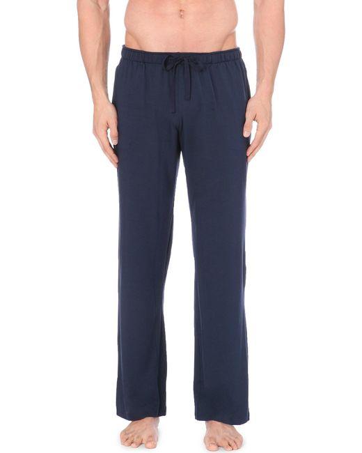 Derek Rose | Blue Basel Casual Trousers for Men | Lyst