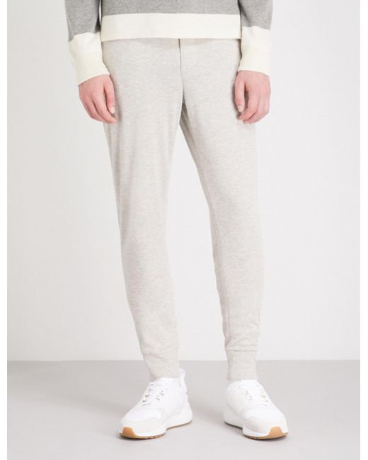 Ralph Lauren Purple Label - Gray Tapered Jersey jogging Bottoms for Men - Lyst