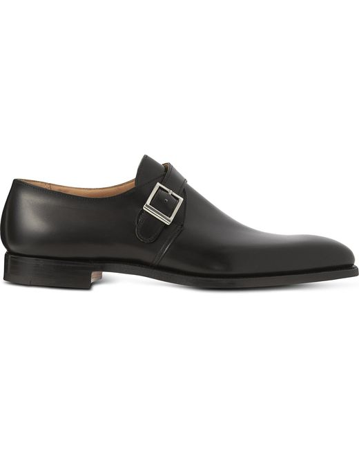 Crockett and Jones - Black Single Buckle Monk Shoes for Men - Lyst