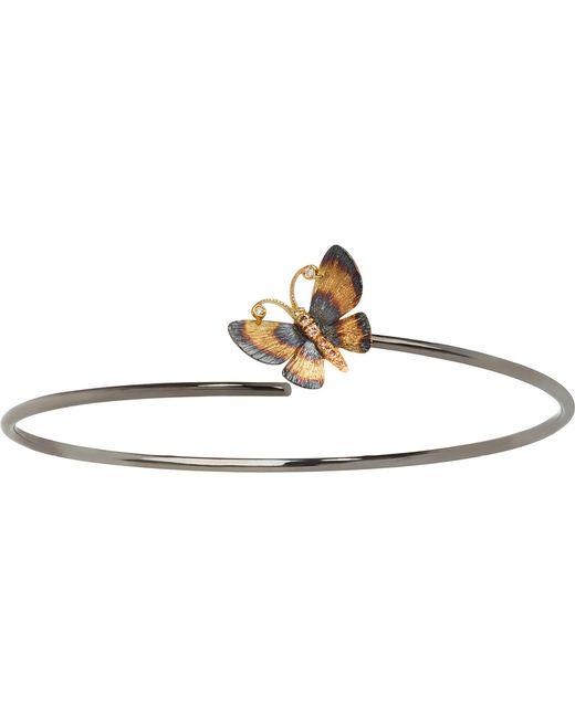Annoushka | Metallic Butterfly 18ct Gold Bangle | Lyst