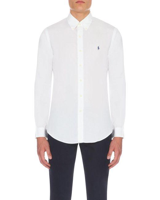 Polo Ralph Lauren   White Slim-fit Single-cuff Shirt for Men   Lyst