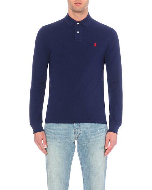 Polo Ralph Lauren | Blue Slim-fit Cotton-piqué Polo Shirt for Men | Lyst