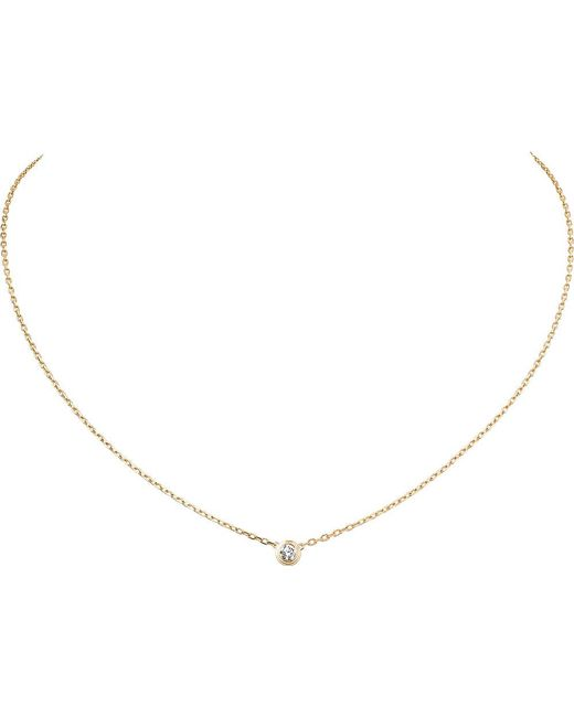 Cartier | Diamants Légers De 18ct Yellow-gold Large Necklace | Lyst