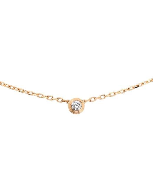 Cartier | Diamants Légers De 18ct Pink-gold And Diamond Necklace | Lyst
