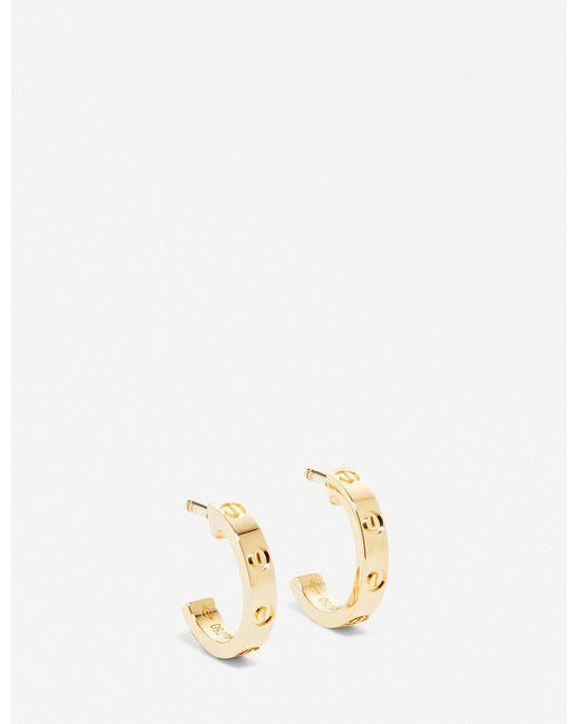 Cartier   Love 18ct Yellow-gold Earrings   Lyst