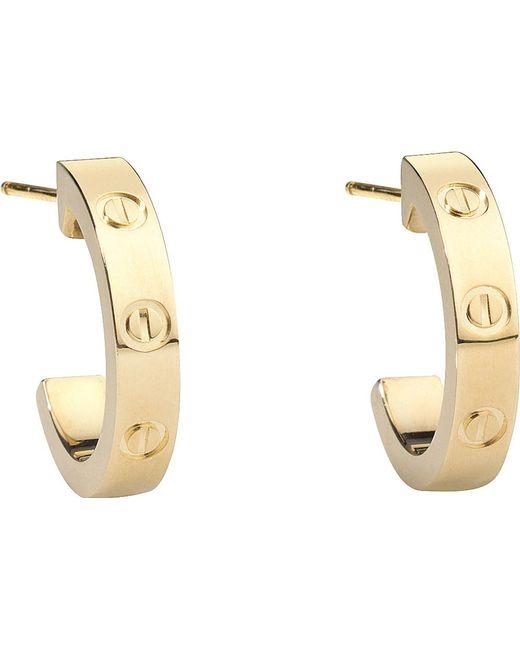 Cartier | Love 18ct Yellow-gold Earrings | Lyst