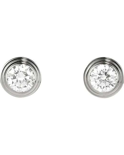 Cartier | Diamants Légers De 18ct White-gold And Diamond Earrings | Lyst