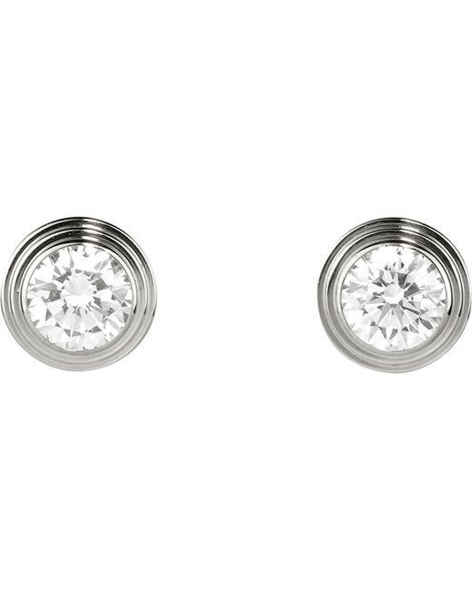 Cartier | Diamants Légers De 18ct White-gold And Diamond Earrings | Lyst