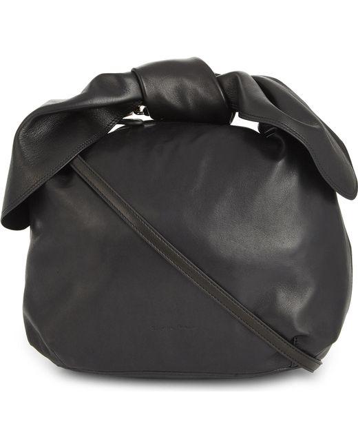 Simone Rocha   Black Bow Nappa Leather Shoulder Bag   Lyst